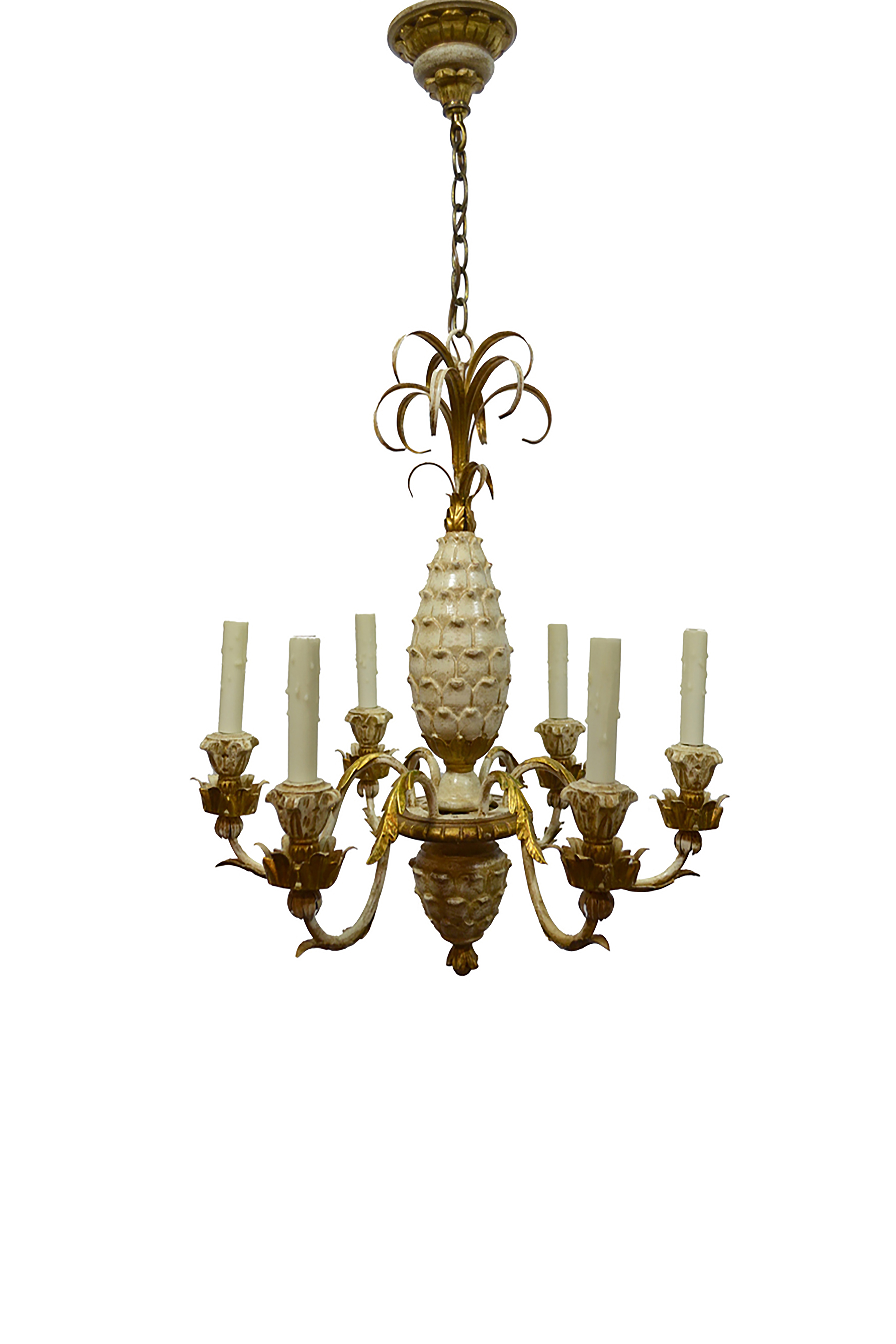 Carved Pineapple Chandelier