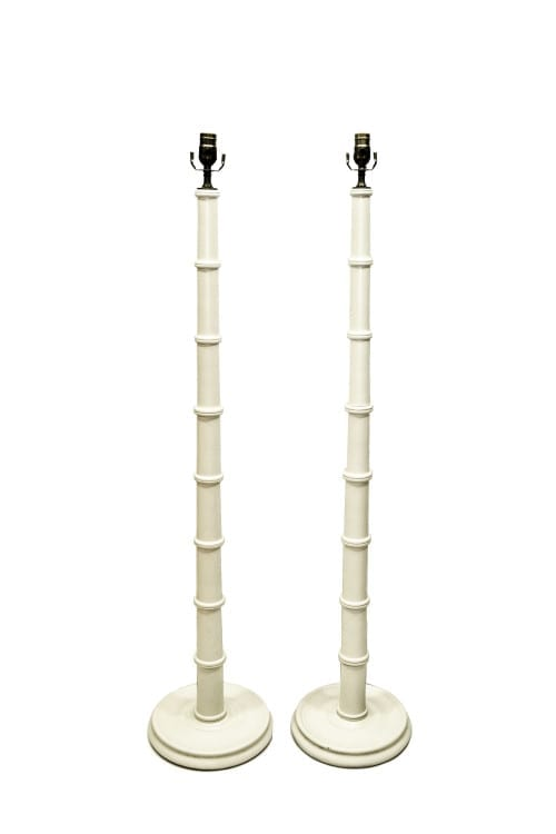 pair of hand turned wood floor lamps the lamp shoppe. Black Bedroom Furniture Sets. Home Design Ideas