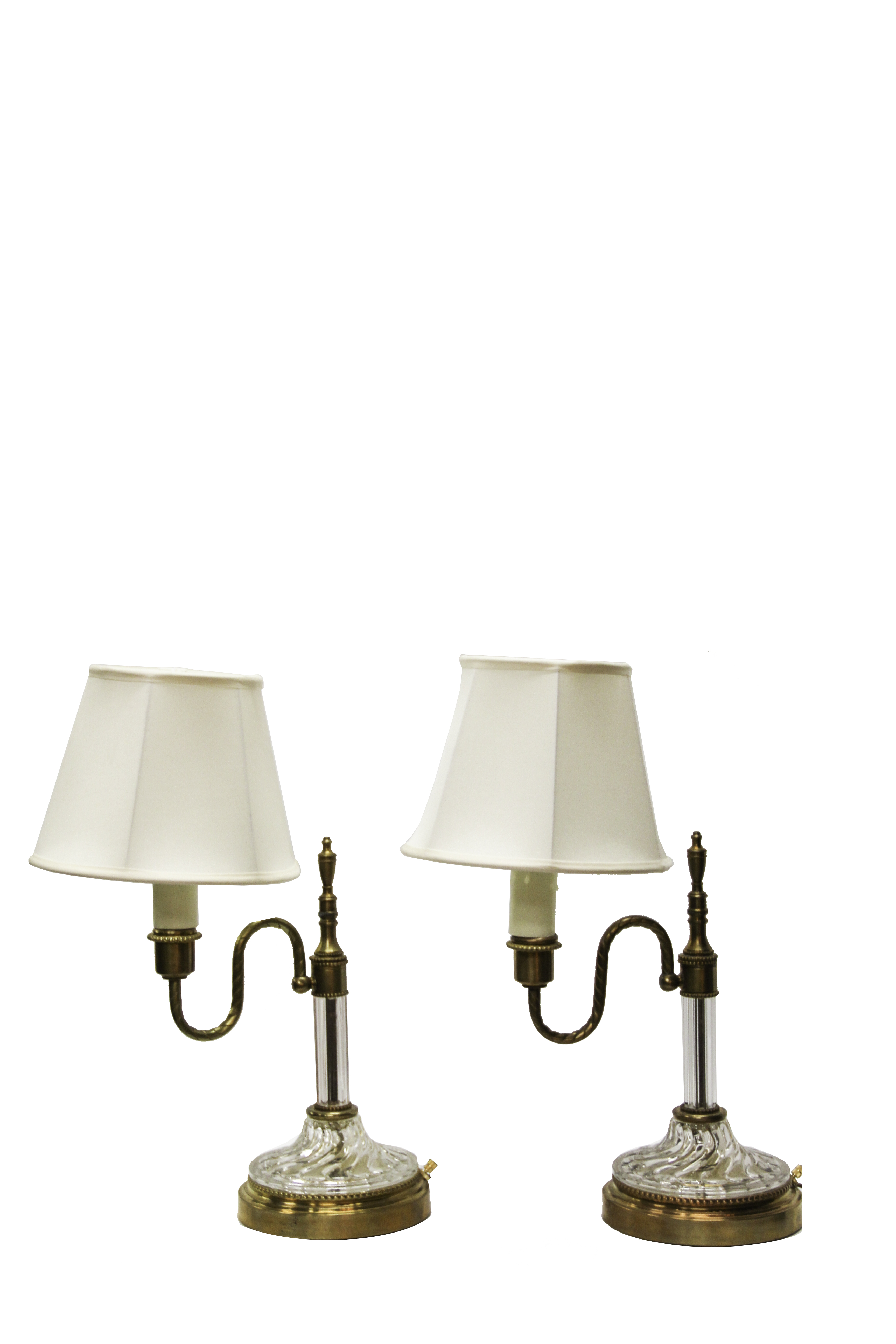 Crystal and Brass Candlestick Lamps   The Lamp Shoppe